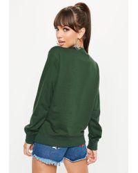Missguided - Barbie X Green City Printed Sweatshirt - Lyst