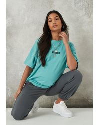 Missguided Blue Oversized Maternity T Shirt
