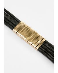 Missguided | Black Metal Detail Choker Necklace | Lyst
