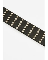 Missguided - Black Stud Details Choker Necklace - Lyst