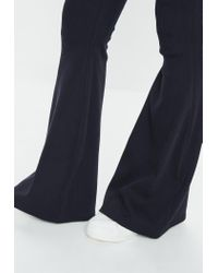 Missguided Blue Tall Navy Flared Ribbed Trousers