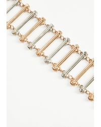Missguided - Metallic Gold Bar Link Choker Necklace - Lyst