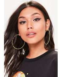 Missguided - Yellow Hooped Earrings - Lyst