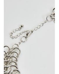 Missguided - Metallic Silver Large Chainmail Choker Necklace - Lyst