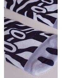 Missguided - Multicolor Zebra Socks - Lyst