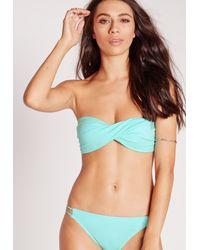 Missguided - Twist Bandeau Bikini Top Mint Green - Mix & Match - Lyst