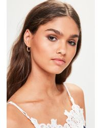 Missguided | 3 Pack Metallic Earrings | Lyst