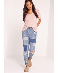 Missguided - Tall Exclusive Boyfriend V-neck T-shirt Pink - Lyst