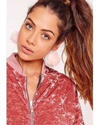 Missguided - Pink Pom Pom Earrings Set - Lyst