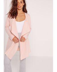 Missguided Pink Waterfall Jacket Blush