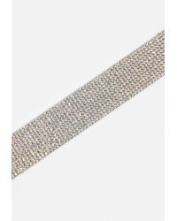 Missguided - Metallic Silver Diamond Choker Necklace - Lyst