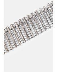 Missguided - Metallic Silver Diamante Thick Belt - Lyst