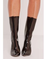 Missguided Perspex Ankle Boot Black