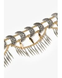 Missguided - Metallic Gold Moon Detail Choker Necklace - Lyst