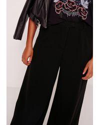 Missguided Plus Size Wide Leg Trousers Black