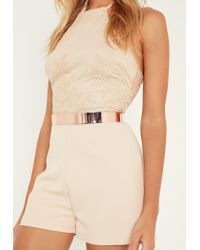 Missguided Multicolor Rose Gold Metal Waist Belt