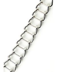 Missguided - Metallic Silver Chunky Chain Choker Necklace - Lyst