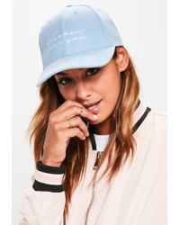 Missguided - Blue Fresh Faux Suede Cap - Lyst