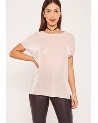 Missguided   Multicolor Nude Pleated Tunic   Lyst
