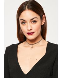 Missguided | Metallic Gold Delicate 3 Pack Choker Necklaces | Lyst