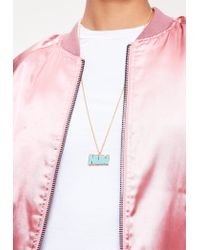 Missguided | Blue Hun Charm Necklace | Lyst