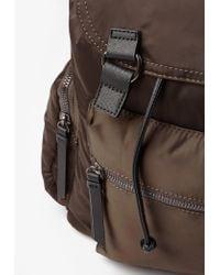 Missguided - Multicolor Khaki 3 Pocket Nylon Backpack - Lyst