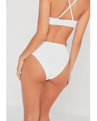 Missguided White High Leg High Waisted Bikini Bottoms - Mix & Match