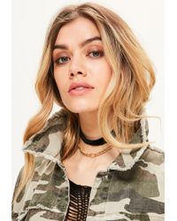 Missguided   Metallic Gold Layered Chain Choker Necklace   Lyst