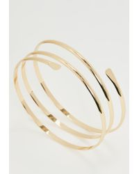 Missguided - Metallic Gold Double Band Arm Cuff - Lyst