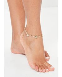 Missguided   Metallic Gold Chain Anklet   Lyst