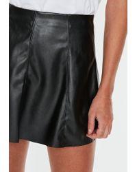Missguided Black Pu A-line Mini Skirt