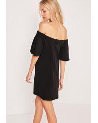 Missguided Bardot Swing Dress Black