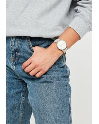 Missguided Gray Grey Analogue Diamante Dial Watch