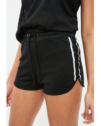 Missguided Active Black Mesh Shorts