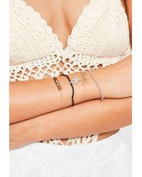 Missguided - White Delicate Bracelet Pack - Lyst