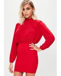 Missguided Red Slinky Mini Dress