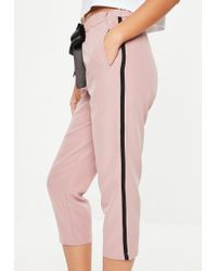 Missguided Pink Side Stripe Pants