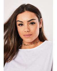Missguided Metallic Gold Look Conch Shell Necklace