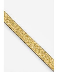 Missguided - Metallic Gold Cracked Glitter Choker Necklace - Lyst
