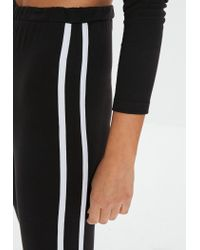 Missguided Petite Black Side Stripe Legging
