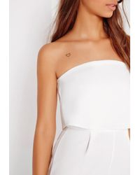 Missguided Crepe Double Layer Culotte Jumpsuit White