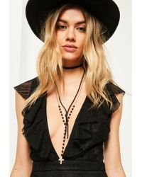 Missguided | Black Layered Bead Necklace | Lyst