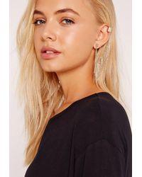 Missguided - Metallic Ear Cuff Gold - Lyst
