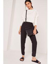 Missguided - Multicolor Brushed Back Deep Hem Sweatshirt White - Lyst