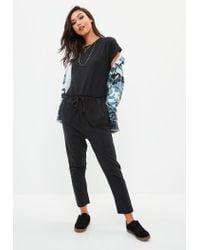 Missguided Black Slouch Jumpsuit