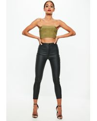 Missguided Multicolor Petite Vice Coated Skinny Jeans