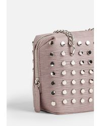 Missguided Pink Studded Chain Cross Body Bag