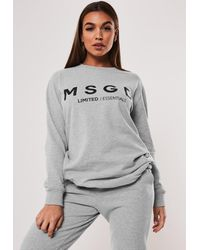 Missguided Gray Active Grey Co Ord Msgd Oversized Sweatshirt