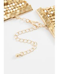 Missguided - Metallic Gold Chain Mail Choker Necklace - Lyst