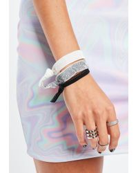 Missguided - Multicolor Multicoloured 3 Pack Glitter Tie Bracelets - Lyst